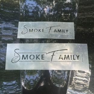 Трафарет Smoke Family